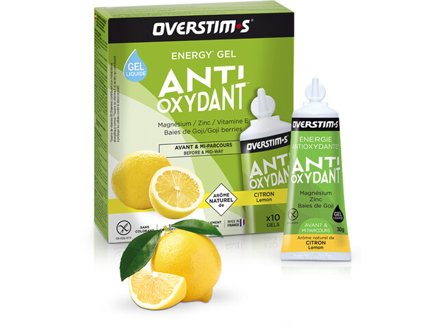 OVERSTIM.s Antioxydant Sachet de gels liquides 10x30g, Lemon